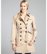 Burberry new chino beige cotton woven belted trench coat