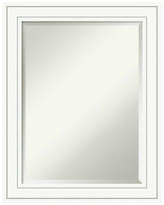 "Amanti Art Wall Mirror, Craftsman White, Outer Size 23""x29"""