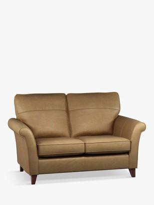 John Lewis & Partners Charlotte High Back Small 2 Seater Leather Sofa, Dark Leg