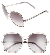 Chloé Women's Isidora 59Mm Square Sunglasses - Gold/ Grey