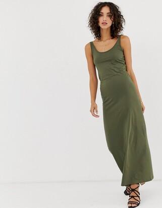 Vero Moda Jersey Maxi Dress-Green