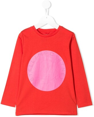 Stella McCartney circle logo print T-shirt