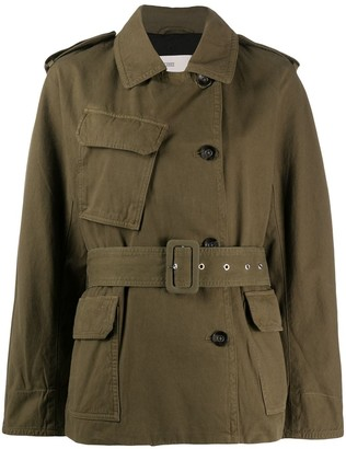 Closed Double Breasted Military Jacket