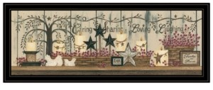 """Trendy Décor 4U Willow Tree Shelf Collection by Linda Spivey, Ready to hang Framed Print, Black Frame, 39"""" x 15"""""""