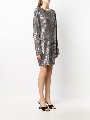 In The Mood For Love Long-Sleeve Sequin Dress