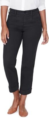 NYDJ Straight Leg Ankle Cotton Blend Chino Pants