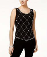 MSK Embellished Scalloped-Hem Top