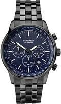 Sekonda 1376.27 Chronograph Date Bracelet Strap Watch, Black/navy