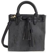 Sole Society 'Mini Ciela' Faux Leather Satchel - Grey