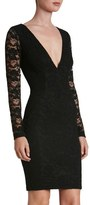 Dress the Population 'Erica' Plunge Neck Lace Body-Con Dress
