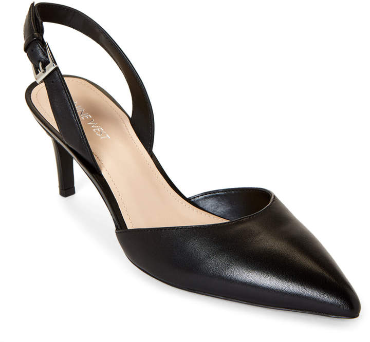 c67a4d49fdf Black Epiphany Leather Slingback Pumps