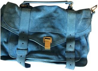 Proenza Schouler PS1 Turquoise Suede Handbags