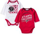 Gerber Baby Atlanta Falcons 2-Pack Long Sleeve Bodysuit