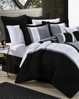 Chic Home Bryce Embroidered Comforter Set