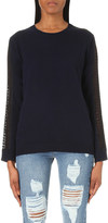 The Kooples Embroidered wool and cashmere-blend jumper