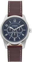 Chaps Men's Bransen Leather Chronograph Watch