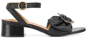 See by Chloe Crystal Buckle Sandals