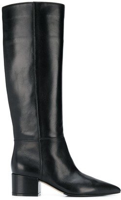 Sergio Rossi side zip detail boots