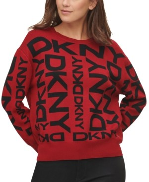 DKNY Exploded Logo Pullover Sweater