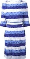 Courreges Pre Owned tonal stripe dress