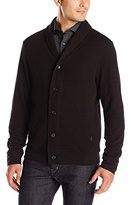 Perry Ellis Men's Quilted Shawl Button Front Cardigan
