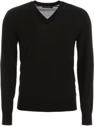 Dolce & Gabbana V-Neck Knitted Sweater