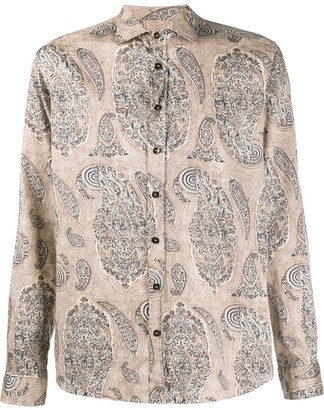 Etro Paisley-Print Fitted Shirt
