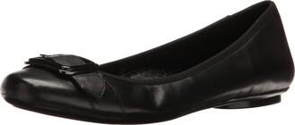 VANELi Women's Solana Ballet Flat Nappa/Gunmetal + Black Buckle 8.5 M US
