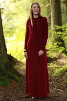 Shabby Apple Leah Maxi Dress Burgundy