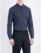 The Kooples Dot-print Classic-fit Cotton Shirt