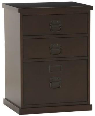 Pottery Barn Bedford 3-Drawer File Cabinet, Espresso