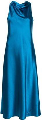 Sies Marjan Draped Neckline Midi Dress