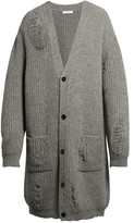 J.w.anderson Distressed Alpaca And Wool-blend Cardigan