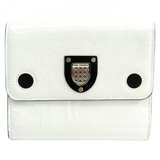 Christian Dior Diorama White Leather Wallets