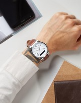GUESS Connect C0002MB1 Leather Smart Watch
