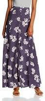 New Look Women's Audrey Button Front Full Plain Skirt,