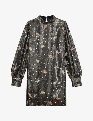 The Kooples Metallic lamé silk dress