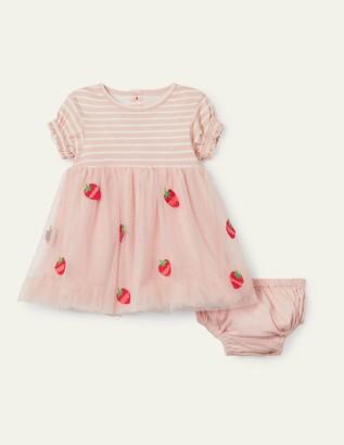 Boden Strawberry Tulle Dress