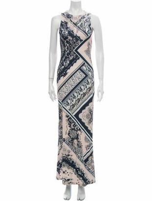 Just Cavalli Paisley Print Long Dress Pink