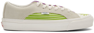 Vans White and Green OG Lampin LX Sneakers