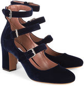 Tabitha Simmons Midnight Blue Velvet Ginger Heels