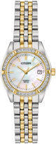 Citizen Womens Two Tone Bracelet Watch-Eu6064-54d