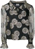 Co floral embroidery blouse