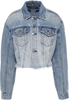 Ksubi Daggarz Cropped Distressed Denim Jacket