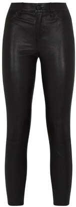 L'Agence Skinny Adelaide Leather Jeans
