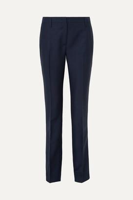Prada Mohair And Wool-blend Straight-leg Pants - Navy