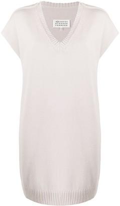 Maison Margiela oversized V-neck knitted dress