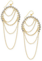 INC International Concepts Gold-Tone Pavé Chain Drop Earrings, Only at Macy's