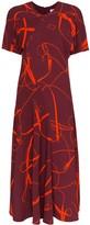 Victoria Beckham belt and buckle print midi dress