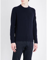 Stone Island Lightweight Wool-blend Knitted Jumper